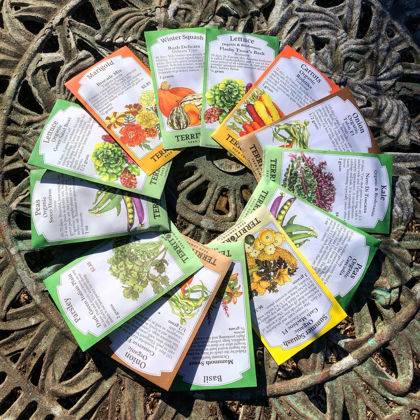 Territorial Seed packets